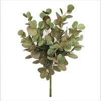 3 colores 90 cm de hojas de eucalipto de hojas de flores artificiales Oficina de plantas tropicales / hogar / plantas de boda Jardín Decoración de la oficina de la oficina KKE3400