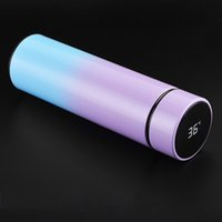 500ML Smart Water Bottle Led Vacuum Flask Digital Temperature Display Stainless Steel Coffee Thermal Mugs Intelligent Insulation Cups Water Holder