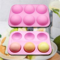 Moldes de chocolate Silicona para hornear Semi esfera Moldes de silicona Molde para hornear para hacer que la cocina Bomb Cake Jelly Hornear moldes Envío rápido