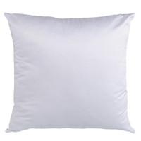 Spedizione veloce 45 * 45cm quadrato quadrato Sublimazione White FoderasCases FAI DA TE Federa in bianco per il calore Trasferimento divano cuscino cuscino cuscino