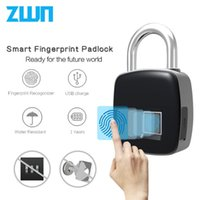 Zwn p3 p3 + умный электронный замок отпечатков пальцев IP65 водонепроницаемый антитефт защитный цифровой замок Bluetooth дверной замок Recargeabl T200111