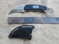 SOG Gambit GB1001-CP in acciaio inox blade in nylon guaina tattica di sopravvivenza difesa di sopravvivenza campeggio EDC combattendo strumenti fissi coltello zampa karambits