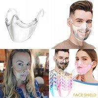 Homens mulheres transparentes máscara facial adulto pc anti nevoamento reutilizável dustproof boca máscaras nova chegada