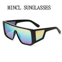 نظارات المرأة المتضخم نظارات 2021 ماركة مصمم أنثى مرآة قناع قناع نظارات الشمس للرجال قطعة واحدة درع ظلال FML