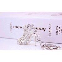 Altın anahtar yüzükler promosyon düğün hediyesi kristal parlak yüksek topuk ayakkabı araba anahtarlık bayan yaratıcı çanta süsler wmtlmw luckyhat