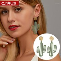 Stud corean penning orecchini pendories minimalist cactus donne carino lega di gioielli accessori per ragazza festa di nozze regalo1
