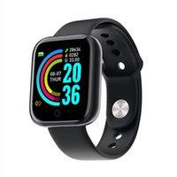 D20 / Y68 Pulsera inteligente SmartWatch Modos deportivos Muñequera Muñeca Tasa del corazón Calorías Monitoreo saludable Vida conveniente TPU relojes inteligentes