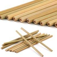 대나무 빨대 대나무 마시는 짚 재사용 가능한 에코 친화적 인 손으로 만든 자연 마시는 빨 대 및 청소 브러시 W95995