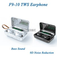 F9-10 Waterproof Bluetooth Earphone TWS Wirelesss Touch Control Headsets with LED Digital Display Sports Fitness Bass Sound Earbuds