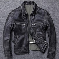 Free shipping.sales gift Brand new men cowhide coat.winter warm men's genuine Leather jacket.vintage style man leather clothes