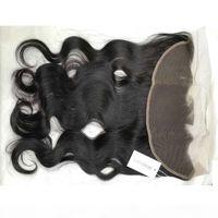 MagiPark 브라질 바디 웨이브 레이스 정면 13x4 아기 머리카락으로 레이스 폐쇄 자연 머리 라인 100 % 인간의 머리 처녀 말레이디안 인도