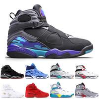 Yeni Varış 2021 Erkek Bayan Basketbol Ayakkabıları Aqua Siyah Sevgililer Günü Snowfake South Beach Chrome 8 8 S Jumpman Eğitmenler Spor Sneakers 7-13