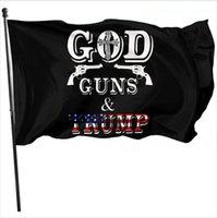 90 * 150 cm God Guns Trump Flag 2020 Pride USA Presidente Bandiere Poliestere Vola con orgoglio in magazzino LJJP824