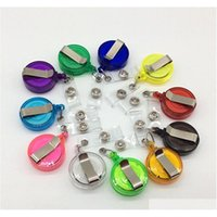 Retractable Pull Badge ID Lanyard Nome Tag Card Badge Holder Reels Key Ring Chain Clips School St SQCyqk Lyqlove