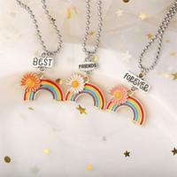 الأزياء ديزي قوس قزح قلادة المينا rainbow الكرتون أطفال صديق قلادة قلادة مجوهرات 148 J2