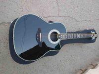 사용자 정의 6 문자열 전문 전문 OT 기타 라운드 솔리드 우드 난옥 전기 어쿠스틱 기타