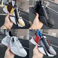 2021 Herren Designer Flow Sneaker Reißverschluss Mesh Leder Trainer Frauen Leder Mode Lässige Schuhe Runner Schuhe 259