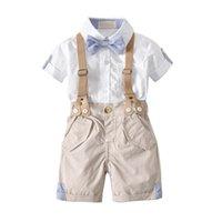 Criança meninos conjunto de roupas de verão Terno de bebê shorts camisa 1 2 3 4 anos crianças crianças roupas se adapta traje de festa de casamento formal