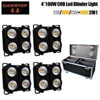 TIPTOP COB-LED-Blinder 4 (c) 4 x 100W weiße Farbstufe LED-Audience-Lichtmatrix Pixel-COB-Lampensteuerung DMX / Auto / Sound-Musiksteuerung x 4pcs
