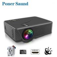 Proyectores Poner SAUND GP10 Full HD Proyector LED 4K 800 Lumens USB Cine Portátil Cine de Casa de Casa con Misterioso Regalo1