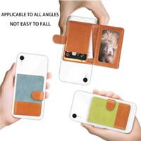 عالمي 3M ملصقا عودة فتحة بطاقة الهاتف الفتحة الجلود جيب عصا على محفظة بطاقة الهوية النقدية حامل بطاقة الائتمان آيفون XS ماكس x 7 8 حالة الهاتف الذكي
