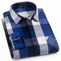 AOLIWEN 2021 100% algodão pálido camisa homens flanela de alta qualidade primavera outono de manga longa camisa botão para baixo slim fit casual