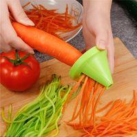 أدوات المطبخ الخضراوات الفاكهة متعددة الوظائف دوامة التقطيع مقشرة دليل البطاطس الجزرة الفجل الدورية التقطيع مبشرة W-00634