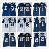 NCAA Vintage Emmitt Smith 8 Troy Aikman 21 Deion Sanders Dorsett Irvin 12 Roger Staubach 54 R. White Football Jersey
