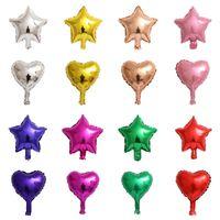 Globo del Día de San Valentín 10 pulgadas Cinco puntiagudo Star Love Aluminio Película Balloon Sala de bodas Decoración En forma de corazón Globo T9I00985
