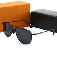 Hotsale Luxo Novo Moda Mens Óculos De Sol Vintage Homem De Negócios Sol Óculos Designer Ao Ar Livre UV400 Estrela Estilo Óculos de Estilo com caixa de presente