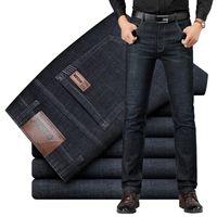 Suleo Brand Jeans Design esclusivo Design esclusivo Casual Denim Jeans Uomo Dritto Slim Slim Vita Middle Stretch Men Jeans Vaqueros Hombre 201120