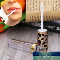 5ml High Quality Empty Leopard Clear Lip Gloss Tube DIY Cosmetic Lip Balm Bottle Container ABS Lid & PS Bottle