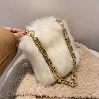 Herbst- und Winter-Plüschhandtaschen High-End-Sinn der Underarm-Tasche 2020 Neue Mode Damen Designerkette Umhängetasche
