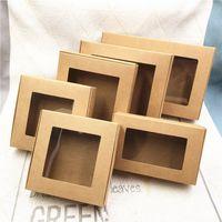 PVC Pencere Kağıt Uçak Tatil Hediye Paketi Kutuları Şeker Çikolata Saklama Kutuları El Sanatları Doğum Günü Düğün Için Ekran Kağıt Kutuları