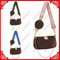 Mulheres de alta qualidade As bolsas de couro favoritas 3 pcs multi acessórios de cocô civils bolsas de marrom mini Mini Pochesa Cross Body Bags bolsas de ombro