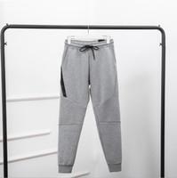 2017 mais recentes calças masculinas sweatpants tecnologia esfera full-zip fleece casual moda homens calças esportivas desgaste casual