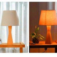 Venta caliente Conciso Lámparas de mesa de estilo moderno Materiales de alta calidad Moda Creativa Protección de ojos Lámpara de mesa con fuente de luz Tapón US