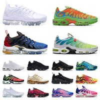 Nike Air Max Vapormax Tn Plus Airmax off white  TN Plus Vapourmax Running Shoes Vapor TNS Fly Knit Moc Sneakers White offl Black Pink AirvaporZapatillas de deporte de Airmax Max.