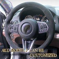 Couvercle de roue de voiture en cuir de daim Alcantara pour Acura CDX TLX-L RDX MDX ZDX Publicité Personnalisation Personnalisation SportsCar Texture de luxe