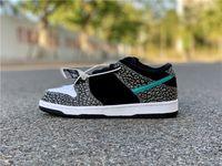 2021 Authentic Sb Dunk Pro Low Elephant Tiffany Tiffany Medio Grigio Nero Bianco Bianco Clear Jade Skateboard Scarpe da uomo Donne Donne Zapatos Sneakers US 5