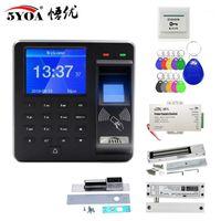 Parmak İzi RFID Erişim Kontrol Sistemi Akıllı Kapı Kilidi Kiti Elektronik Kapı Açacağı Ev Dijital Set Elektrikli Manyetik Biyometrik1