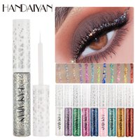 Glitter Eyeliner 12 Colors Shiny Eye Foders Brown Silver Liquid Eyeliner Pen Colorato Dreamy Shiny Glitter Paillettes Strumento per eyeliner