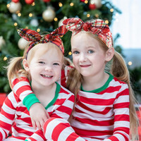 bowknot 크리스마스 선물 눈송이 격자 머리띠 크리스마스 갈 랜드 크리스마스 장식 2021 여자 장식품에 대 한 새해 선물 Navidad 장식