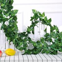 5 قطعة / الوحدة نباتات شجرة اصطناعية فاينز حديقة جدار شنقا الحرير اللبلاب العنب يترك الزهور غرفة الزفاف ديكور المنزل