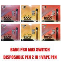 1000 мАч Батарея батарея Max Switch Одноразовый PRO Устройство 2 в 1 6 мл Vape 2000Позды Горячие стручки XXTRA Двойной Flex для Bang XXL Puff Pen Ezzy S Xuwk