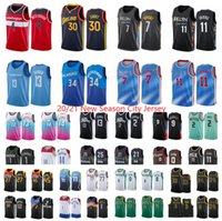 Nova temporada 20-21 homens Anthony 3 Davis 0 Lillard 11 Jovem 30 Curry 2 Ball 3 Wade 4 Westbrook 12 Morant 13 George Teams City Basketball Jersey
