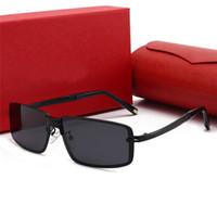 Nuevo diseñador Marca de moda Mujeres Hombres Gafas de sol Lujo Marco completo UV400 Polarizadas Polarizadas Outdoor Gafas de sol Lentes Polaroides Gafas con caja