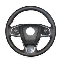 DIY El-dikişli Deri Araba Direksiyon Kapak Honda Civic 10th Civic 2016-2019 Clarity 2016 CRV CR-V 2017-2019 38 cm