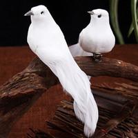 Yapay Beyaz Güvercin Düğün Festivali Dekorasyon Simülasyon Kuşlar Metal Kelepçe Tüy Köpük Barış Güvercin 12 adet Otel Yatak Odası 1 55ky G2