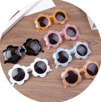 أزياء الأطفال عباد الشمس جيلي إطار النظارات الشمسية الاطفال uv حماية الشاطئ النظارات الشمسية بنين الفتيات تظهر الأداء نظارات A5699